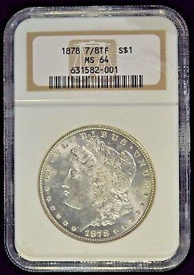 1878 7/8 TF Morgan Silver Dollar NGC MS64 Item N-29
