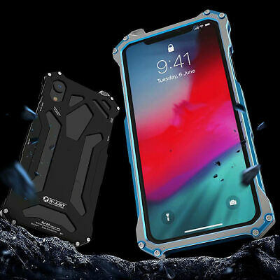Shockproof METAL Aluminum Gorilla Glass Cover Case For iPhone XR XS 8 7 6 PLUS