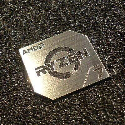 AMD RYZEN 7 CPU PC Logo Label Decal Case Sticker Badge SILVER [428b]