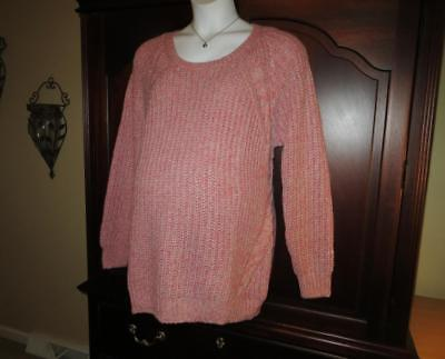 Maternity Sweater Plus Size XXL 1x 2x Old Navy Cable Knit Pink NEW NWT Fast Ship