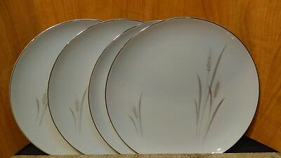 """Platinum Wheat by Fine China Japan Set(s) of 4 Dinner Plates 10 1/4"""""""