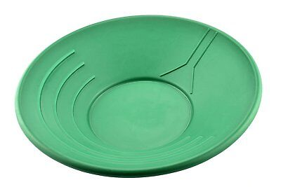 "SE GP1002G 14"" Plastic Gold Pan, Green"