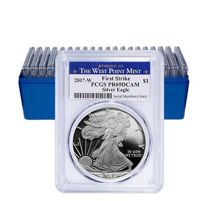 Lot of 20 - 2017-W 1 oz Proof Silver American Eagle PCGS PF 69 DCAM First Strike