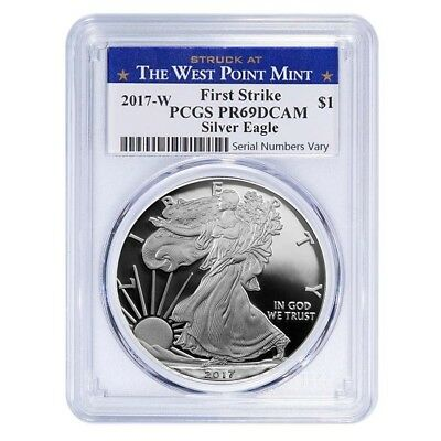 2017-W 1 oz Proof Silver American Eagle PCGS PF 69 DCAM First Strike (WP Label)