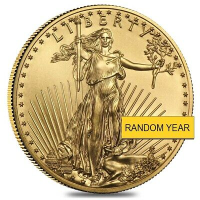 1/4 oz Gold American Eagle $10 Coin BU (Random Year)