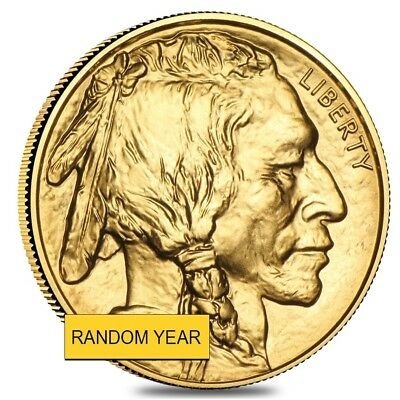1 oz Gold American Buffalo $50 Coin BU (Random Year)