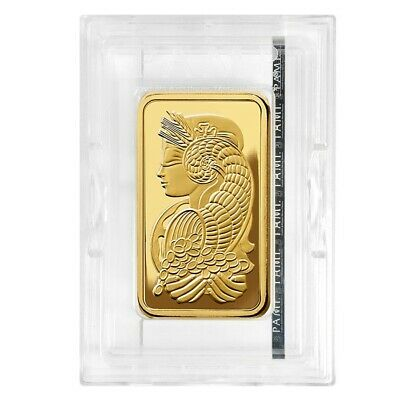5 oz PAMP Suisse Lady Fortuna Gold Bar .9999 Fine (In Assay)