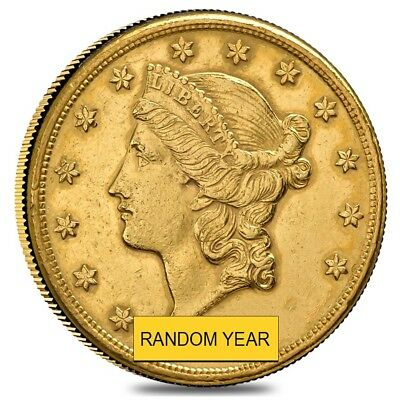 $20 Gold Double Eagle Liberty Head - Polished or Cleaned (Random Year)