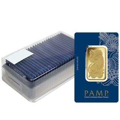 Box of 25 - 1 oz Gold Bar PAMP Suisse Lady Fortuna Veriscan .9999 Fine (In