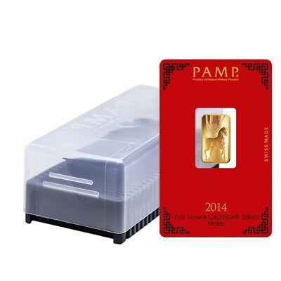 Box of 25 - 5 gram PAMP Suisse Year of the Horse Gold Bar (In Assay)