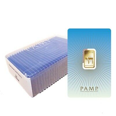 Box of 25 - 5 gram PAMP Suisse Gold Bar - Am Yisrael Chai (in Assay) .9999 Fine