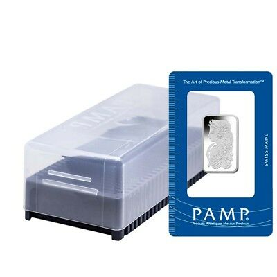 Box of 25 - 1/2 oz PAMP Suisse Lady Fortuna Platinum Bar .9995 Fine (In Assay)