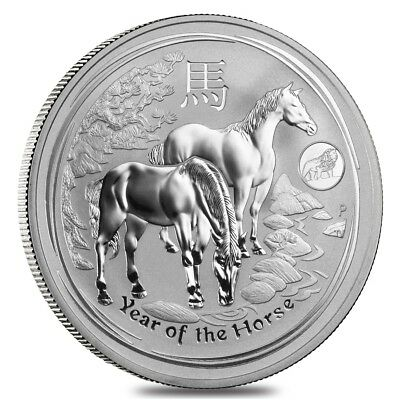 2014 1 oz Australian Silver Lunar Year of the Horse Lion Privy BU Australian