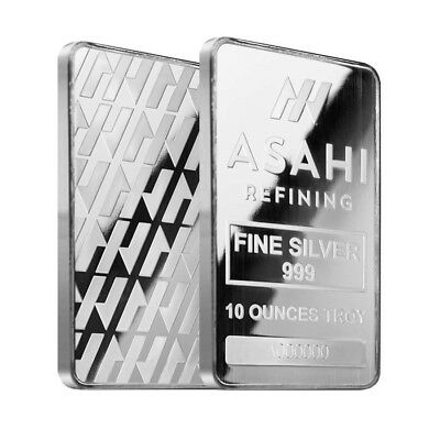 10 oz Asahi Silver Bar .999 Fine Sealed