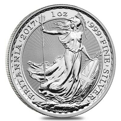 2017 Great Britain 1 oz Silver Britannia Coin .999 Fine BU