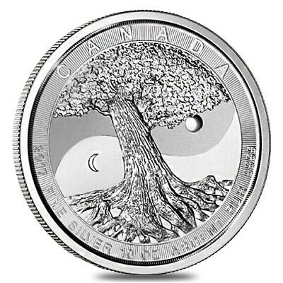 2017 10 oz Silver Canadian Tree of Life $50 Coin (In Cap)