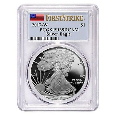 2017-W 1 oz Proof Silver American Eagle PCGS PF 69 DCAM First Strike