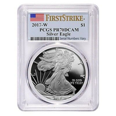 2017-W 1 oz Proof Silver American Eagle PCGS PF 70 DCAM First Strike