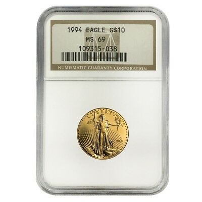 1994 1/4 oz $10 Gold American Eagle NGC MS 69