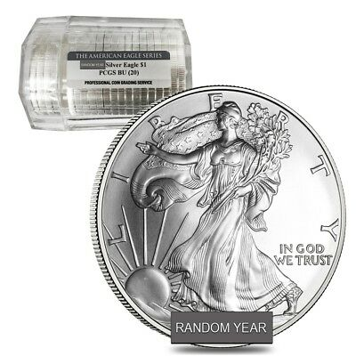 Roll of 20 - 1 oz Silver American Eagle $1 Coin NGC/PCGS BU (Sealed Tube, Random