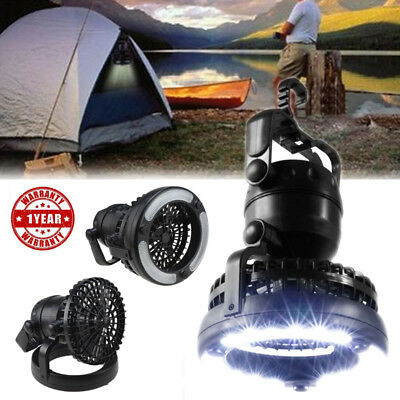 2pcs Portable 18LED Tent Camping Light with Ceiling Fan Hiking Outdoor Latern US