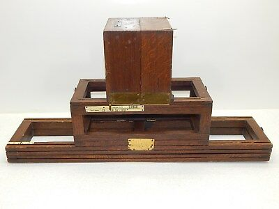 Rare Antique 1800's KODAK LIMITED LONDON Oak and Brass X-Ray Reduction Camera