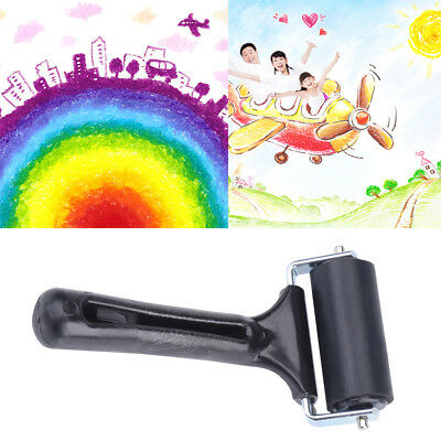 6cm Hard Rubber Brayer Roller Heavy Duty Inks Paints Printing Scrapbook Craft