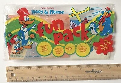 1980s SCANLENS WOODY WOODPECKER FUN PACK ODD BUBBLE GUM ITEM HAI TAI HONG KONG 2