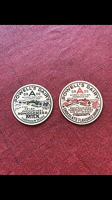 Steubenville Ohio Powells Dairy Bottle Caps New Old Stock Unused