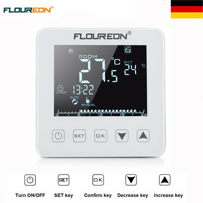 c17 digitales up thermostat mit ext bodenf hler ideal f r fu bodenheizung eur 39 90 picclick de. Black Bedroom Furniture Sets. Home Design Ideas