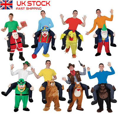 New Shoulder Carry Ride On Piggy Back Fancy Dress Costume Outfit Mens Ladies #d