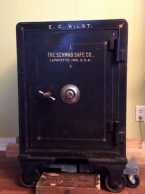 Antique  ca. 1900 Schwab combination safe. Schwab Safe Co. of Lafayette, IN.,