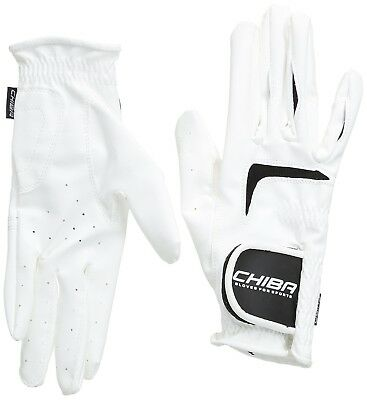(Large, White) - Chiba Gloves Competition Plus Horse Riding Glove