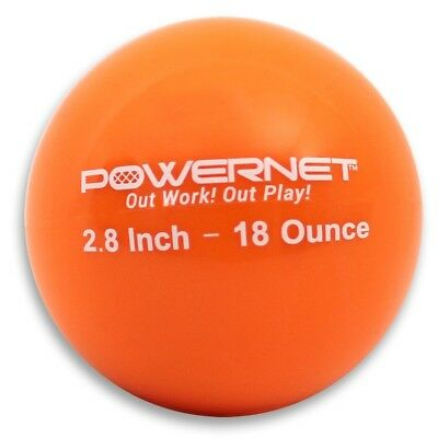 (18 Oz - Orange) - PowerNet 7.1cm Weighted Hitting and Batting Training Ball