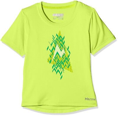 (Small, Hyper Yellow Heather) - Marmot Girl's Post Time Short Sleeves T-shirt,