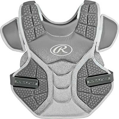 (Silver/White) - Rawlings Sporting Goods Softball Protective Velo Chest