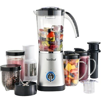 VonShef 4 in 1 Blender - Multifunctional Smoothie Maker, Juicer & Grinder, 1 L C