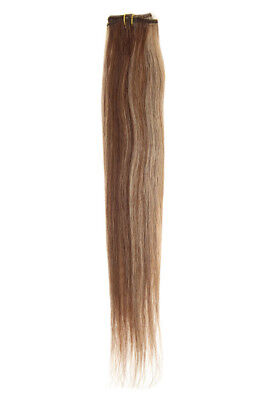 """American Pride Single Weft Clip in Hair (6clips/20g) 18"""" Blonde Brown Mix 4/27"""