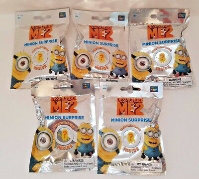Despicable Me 2 Minion Surprise Blind Bags, Lot of 5, NEW