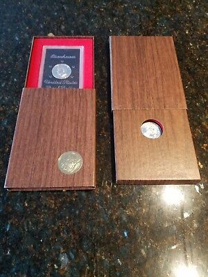 1973-S Eisenhower Proof Silver Dollar, Brown Box, untouched for 44 years