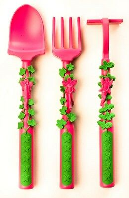 Constructive Eating Set of 3 Garden Fairy Utensils for teaching Youngsters