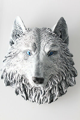 Game of Thrones Direwolf GOT Dire Wolf Ghost White Blue eyes Collectors NEW