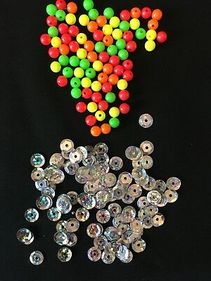 Sea Fishing Sequins With Coloured Beads For Attracting Fish Flatfish