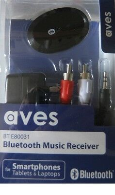 Aves Bluetooth Wireless Stereo Audio Receiver Music Streaming 3.5Mm Out