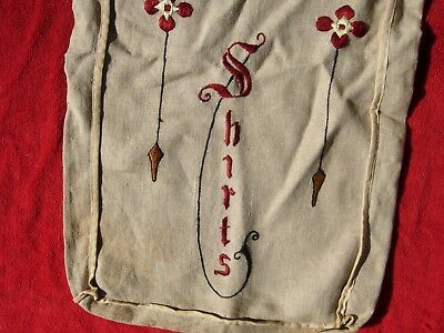 Arts & Crafts Mission style Cloth embroidered bag for shirt  embroidery