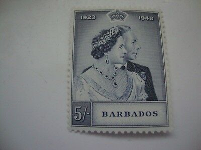 Barbados 1948 Silver Wedding 5/- stamp SG266 unmounted mint