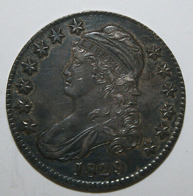 1829  Capped  Bust Silver Half D62