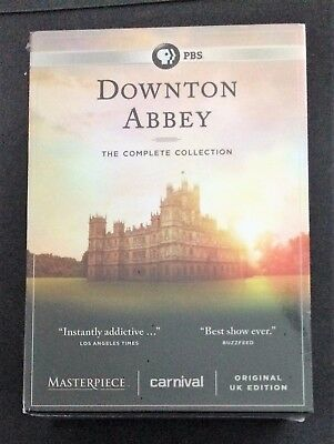 Downton Abbey:the Complete Series Collection(Dvd  22-Discs,sessons 1-6) New