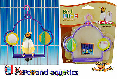 Bird Toy, For Budgies & Small Birds, Swing With Mirror & Spinner
