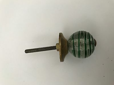 Clear Design Vintage Glass Drawer Knob, Cabinet Handle Pull and Antique Brass.